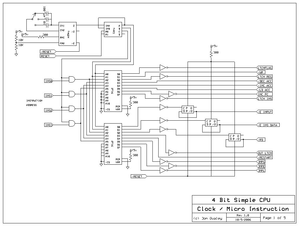 4 Bit Cpu Schematic - Lok Wiring Diagram
